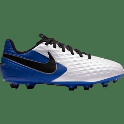 Nike Tiempo Legend 8 Academy FG/MG Jr. stoplis focicipő, gyerekméret, fehér-kék