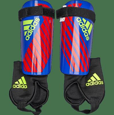 Adidas X Junior sípcsontvédő, gyerekméret, piros-kék