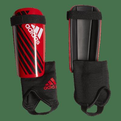 Adidas X Junior sípcsontvédő, gyerekméret, piros-fekete