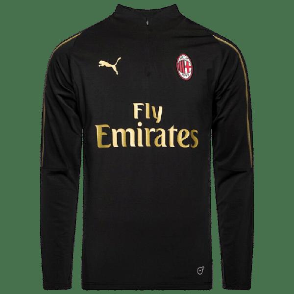 Puma AC Milan edzőfelső, fekete, gyerekméret