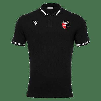 Macron PMFC Yukar galléros szurkolói póló, fekete