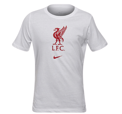 Nike Liverpool FC póló, 2020/21, fehér, gyerekméret