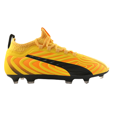 Puma One 20.3 FG stoplis focicipő, sárga-fekete