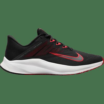 Nike Quest 3 futócipő, fekete-piros-fehér