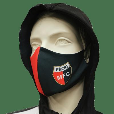 PMFC mosható szájmaszk, piros-fekete