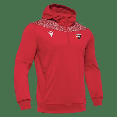 Macron PMFC Ishtar 1/4 Zip kapucnis melegítőfelső, piros