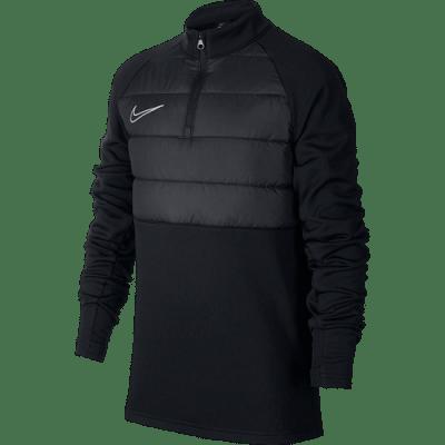 Nike Dri-FIT Academy Winter Warrior edző felső, fekete, gyerekméret