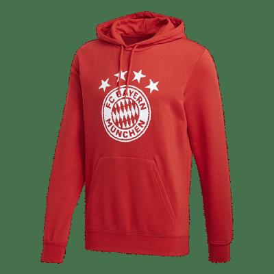 Adidas FC Bayern DNA Graphic kapucnis pulóver, piros