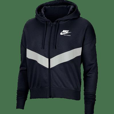 Nike W NSW Heritage melegítő felső, női, fekete