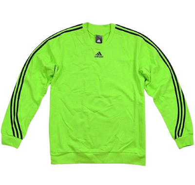 Adidas MT HB pamutpulóver, neonzöld