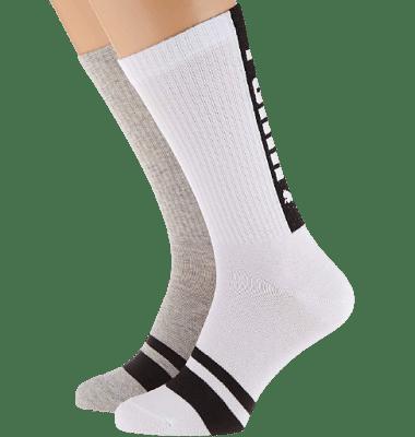 Puma zokni 2 pár, fehér-szürke