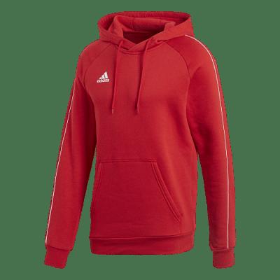 Adidas Core 18 kapucnis pulóver, piros