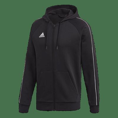 Adidas Core 18 kapucnis melegítőfelső, fekete