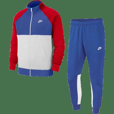 Nike NSW Fleece melegítő szett, piros-kék