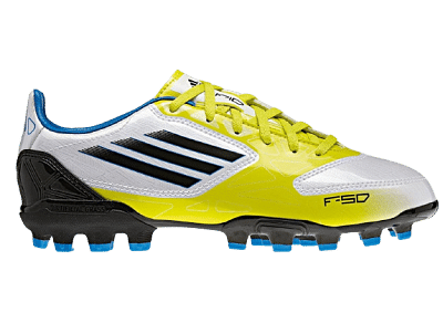 Adidas F10 TRX AG műfüves focicipő, gyerekméret, sárga-fehér