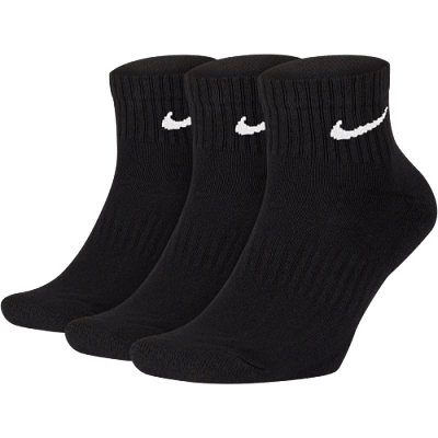 Nike Everyday Cushioned Training bokazokni, fekete, 3 pár