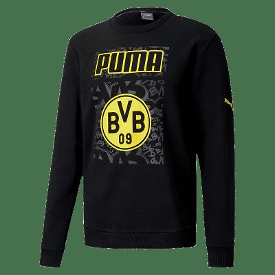 Puma Borussia Dortmund melegítőfelső, fekete