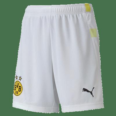 Puma Borussia Dortmund rövidnadrág, gyerekméret, fehér