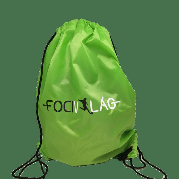 Focivilág tornazsák, zöld