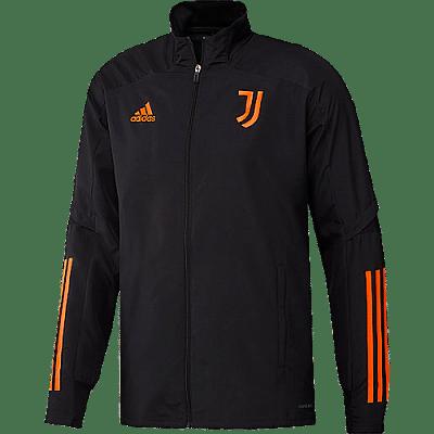 Adidas Adidas Juventus Presentation zipzáros melegítő felső, fekete-narancs