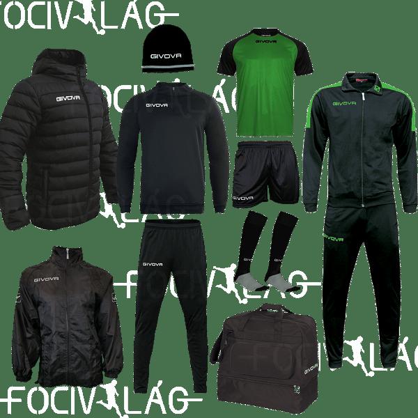 Givova Capo box, fekete-zöld