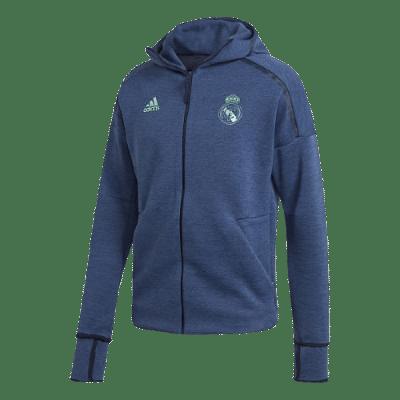 Adidas Real Madrid Z.N.E kapucnis melegítőfelső, kék
