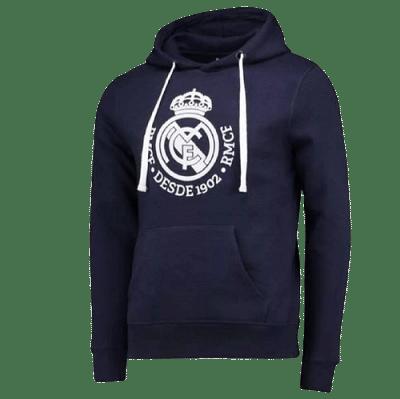 Real Madrid felnőtt kapucnis pulóver, sötétkék