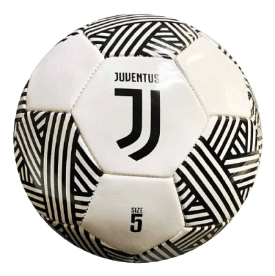 Juventus labda, fehér-fekete csíkos