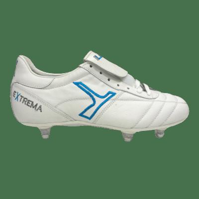 Leo Sport A400 S1 SG stoplis focicipő, fehér-királykék