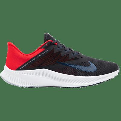 Nike Quest 3 futócipő, fekete-piros-sötétkék