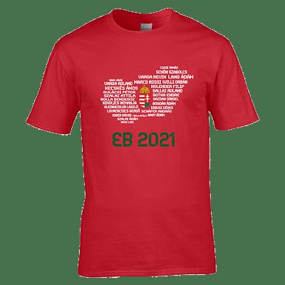 EB 2021 szurkolói póló, piros