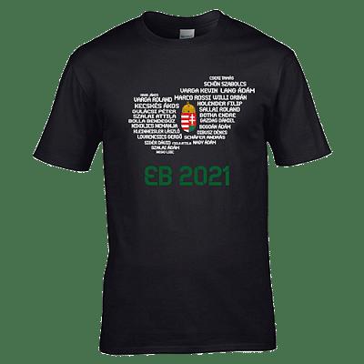 EB 2021 szurkolói póló, fekete