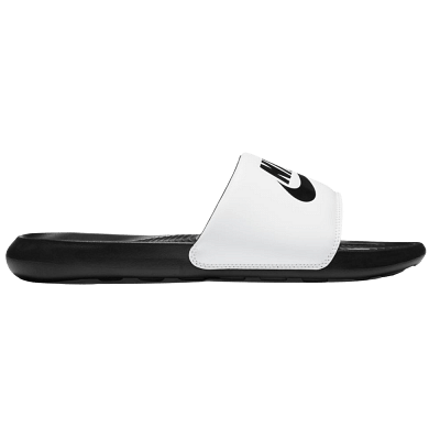 Nike Victori One papucs, fehér-fekete