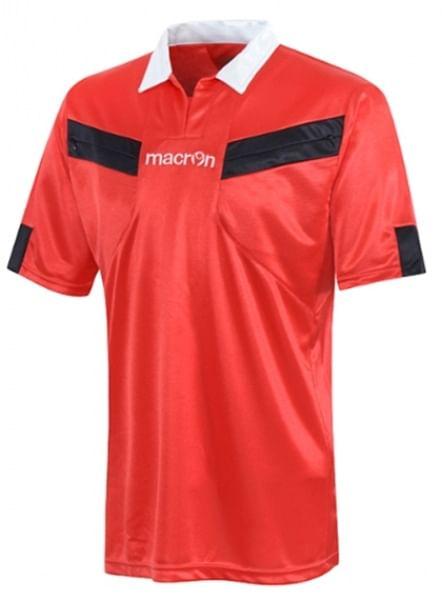 Macron Referee játékvezetői mez, piros-fekete